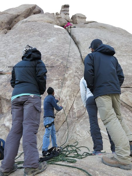friends from fpgm climbing day in shey rock ladakh.