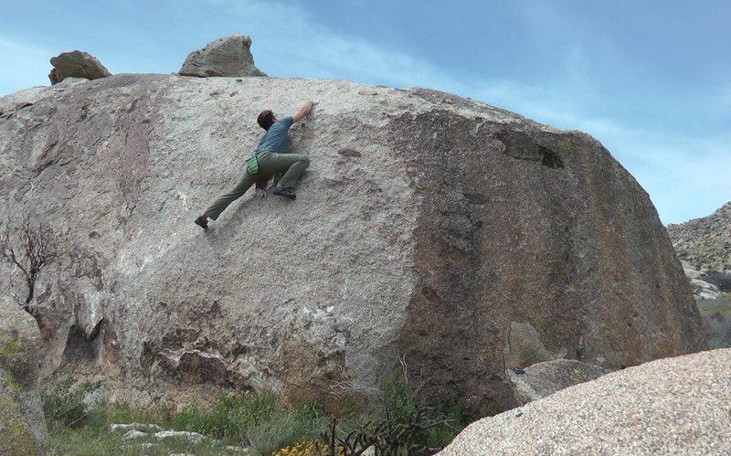 Rock Climbing Photo: Slab dance.