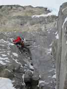 Rock Climbing Photo: Pitch 2.  Not real difficult, but insecure. Photo:...