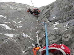 Rock Climbing Photo: P4 is the crux, starts hard and gets harder. Pro i...