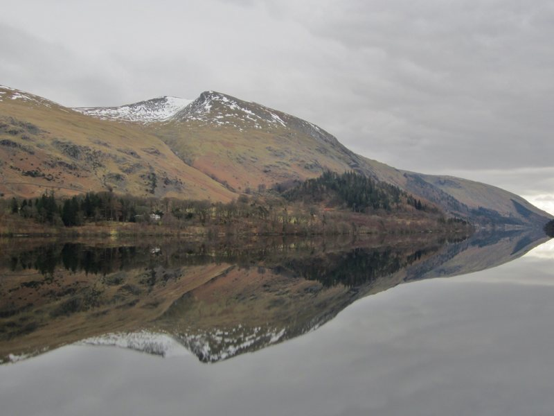Helvellyn Mt above Thirlmere Lake