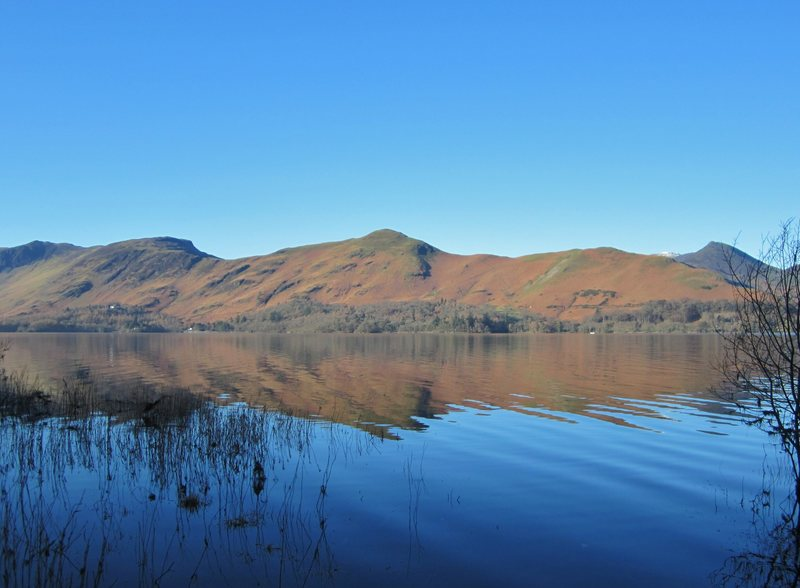 Catbells Mt from across the lake of Derwentwater near Keswick