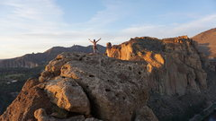 Rock Climbing Photo: Catching the sunset