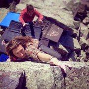 Rock Climbing Photo: Hitting the final move. Photo: Skyler F.