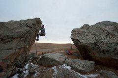 Rock Climbing Photo: Chris Deal on the FA