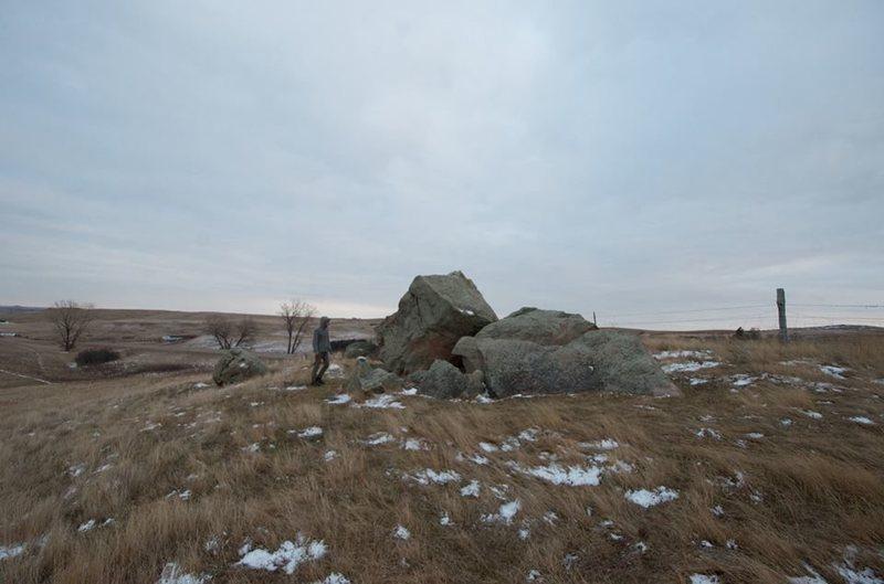Rock Climbing Photo: The two Glacial Erratics