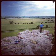 Rock Climbing Photo: top area of prairie wall