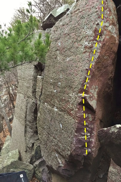 Rock Climbing Photo: The Mezzanine Arete.