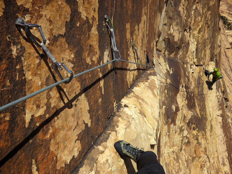The bolt ladder of Pitch 7 of Eagle Dance.
