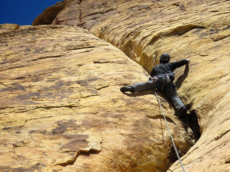 Rock Climbing Photo: Pitch 9 of Eagle Dance.
