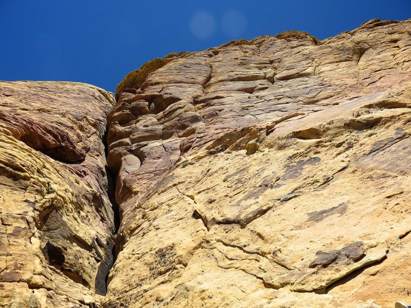 Rock Climbing Photo: This photo is taken looking up towards the top of ...