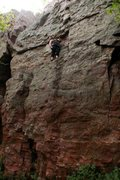Rock Climbing Photo: Kacey half way up twinkle toes, great climb with b...