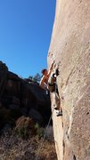 Rock Climbing Photo: Wes Ryan on The Weenie way in Penetente Canyon