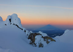 Rock Climbing Photo: The shadow of Mt. Hood from the Hog's Back.