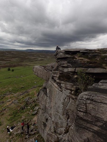 belaying from the top of Norse Corner, High Neb...