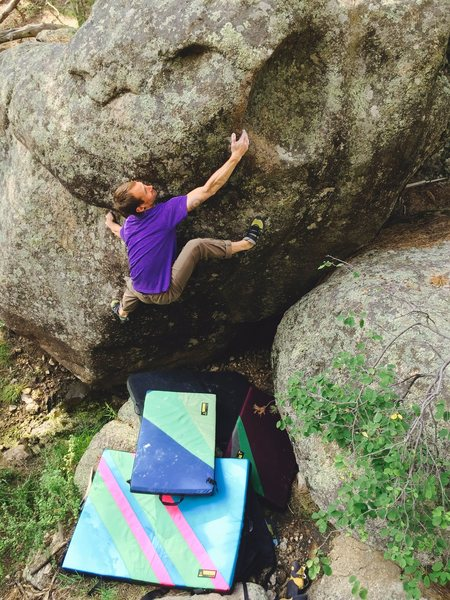 Rock Climbing Photo: John climbs a fun problem put up by Braden herbst?...