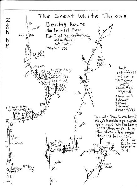 Here is the topo I made for the route after Nate and I did the route.