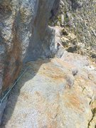 New route King Tut 5.10 3 pitches,  Christman and Sumner 3-2016