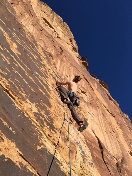 Rock Climbing Photo: First Ascent of I'm Looking Swell, 10c