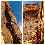 Rock Climbing Photo: Dave Holliday on Pitch 2 and the crux corner