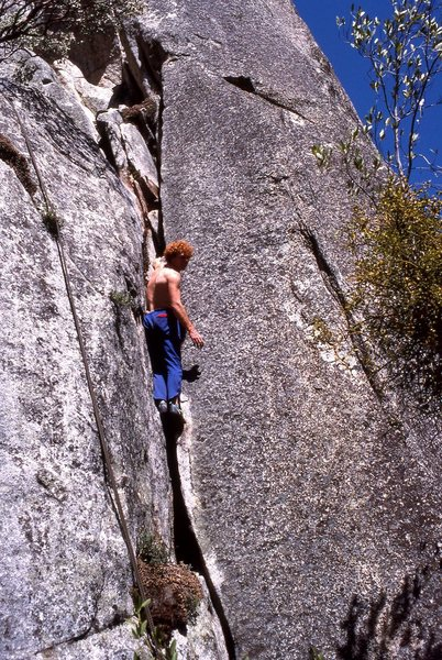 "Rock Climbing Photo: Greg Murphy finishes soloing ""Dirty Little Se..."