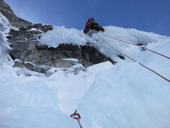 Rock Climbing Photo: Thin, fragile curtain P4. Photo: Jon Jugenheimer.