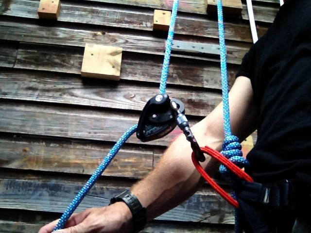 Self belay with a grigri2