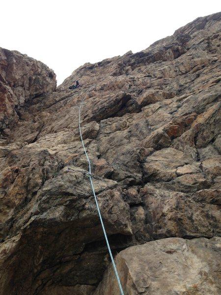 Rock Climbing Photo: Lead climb route of either Utahnics or Holy Moroni