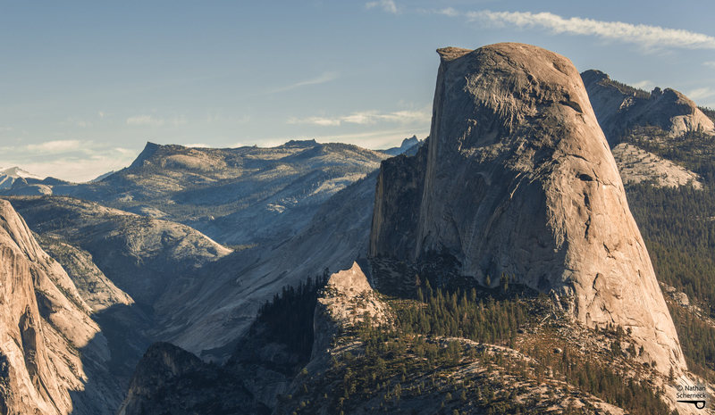 Rock Climbing Photo: Half Dome's left shoulder