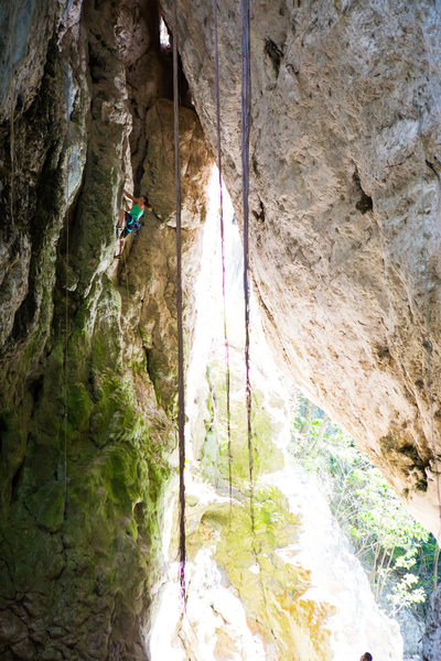 Rock Climbing Photo: San Cristóbal climbing