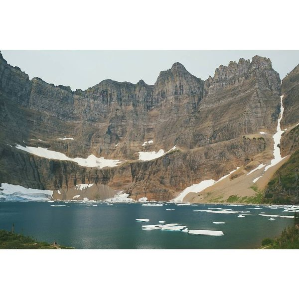Glacier National Park, Iceberg Lake<br> <br> I am the tiny person in the bottom left