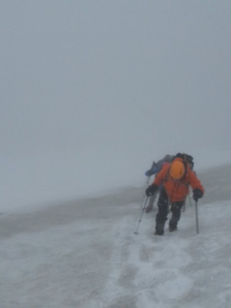 Rock Climbing Photo: Sahale Glacier in low visibility conditions