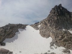 Rock Climbing Photo: The route can be accessed by climbing the snowfiel...