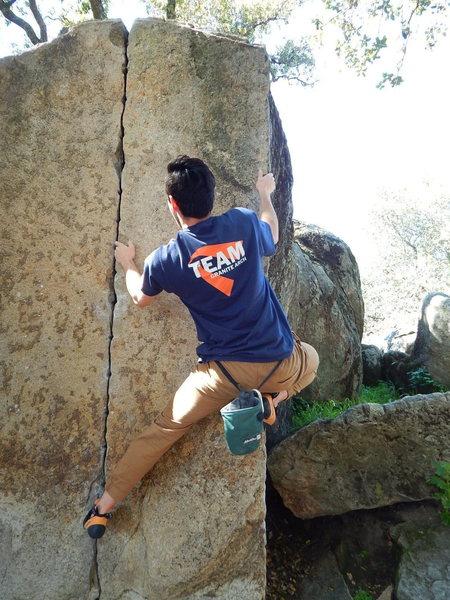 Rock Climbing Photo: Caleb Wilson on Bête Noire