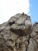 Rock Climbing Photo: Top of Dirty Virgin