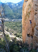 Rock Climbing Photo: beautiful shot of me on the unknown 10a