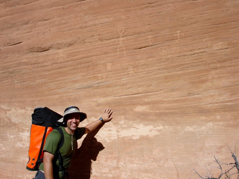Rock Climbing Photo: Rock art on approach to Spry Canyon. Zion N.P.