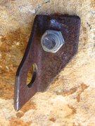 Rock Climbing Photo: Original Urioste bolt protecting the offwidth on I...