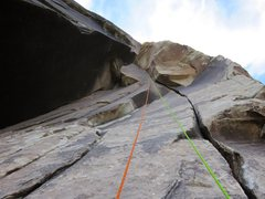 Rock Climbing Photo: Pitch 2 of Fiddler on the Roof (same as Pitch 2 of...