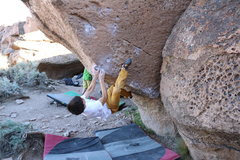 Rock Climbing Photo: Making the very tricky match toward the end of Bub...
