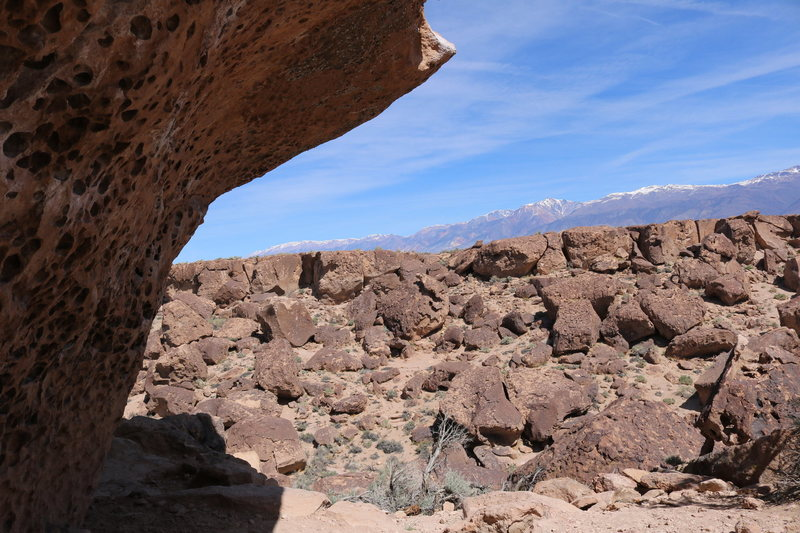 Rock Climbing Photo: The obvious overhanging prow on the wall.
