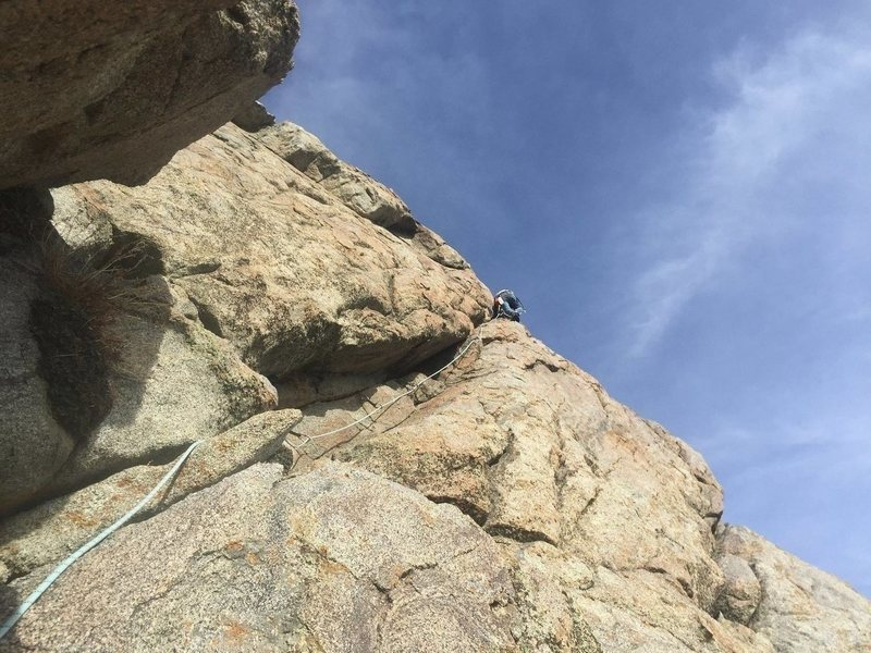 Rock Climbing Photo: Day Trippin 5.7 2 pitches on Sphinx south face Cre...