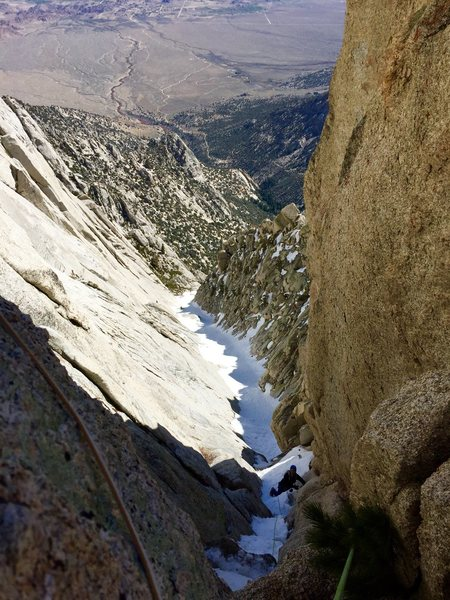 Rock Climbing Photo: Winter route Richard shore following the upper mix...