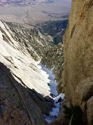 Rock Climbing Photo: Winter route Richard shore following the upper mix...