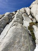 Rock Climbing Photo: Winter route Richard Shore leading up the first up...