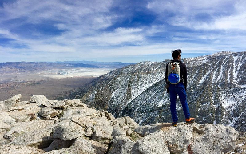 Lone Pine Peak<br> View from winter route