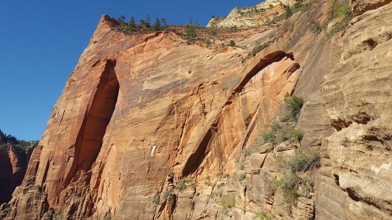 Rock Climbing Photo: Spaceshot as scene from Desert Shield