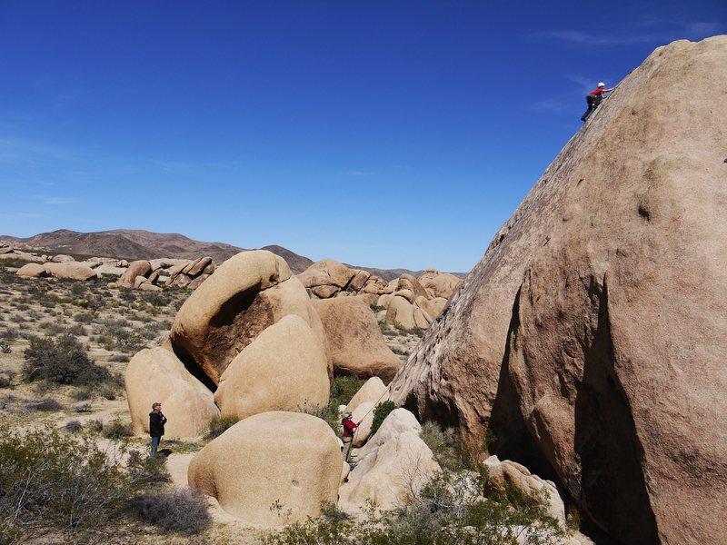 Great boulder for kids