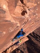 Rock Climbing Photo: Sweet thin hands splitter on the third pitch!