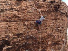 Rock Climbing Photo: Max firing the crux!